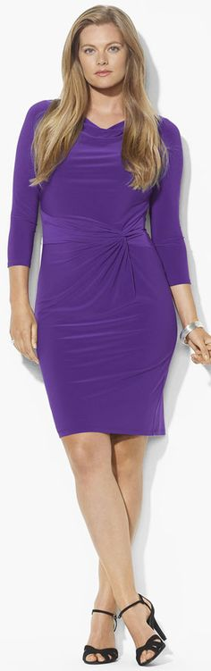 Ralph Lauren; purple dress side gather