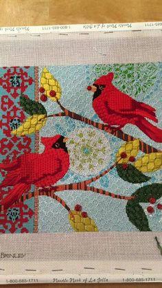 Needlepoint Designs, Needlepoint Stitches, Needlepoint Canvases, Embroidery Stitches, Hand Embroidery, Needlework, Bargello, Rug Hooking, Bird Art