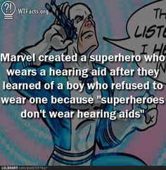"""Wow ;o I've heard that if you're deaf or blind then all your other senses have the potential to be near """"super-hero,"""" but i have no idea if thats legit.."""