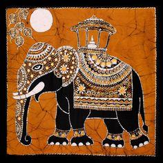 batik elephant tapestry  www.hippieshop.com Mughal Paintings, Indian Art Paintings, Madhubani Art, Madhubani Painting, Elefant Design, Elefante Tattoo, Phad Painting, Elefante Hindu, Rajasthani Art