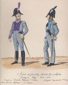 2e Armée de Joachim Murat, Roi de Naples Armigeri Régiment 1812-1815 Capitaine Calabre ultérieure 2e section Sergent Capitanata 1ère section
