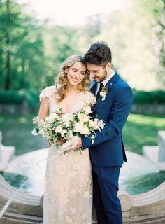 Photography: Sally Pinera   sallypinera.com/ Florist: Kelly Lenard   www.kellylenard.com/ Wedding Dress: Gossamer Vintage   shopgossamer.com/   View more: http://stylemepretty.com/vault/gallery/38823