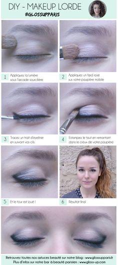 #DIY #Makeup #Lorde @glossupparis #beauty #tuto #black #eyes