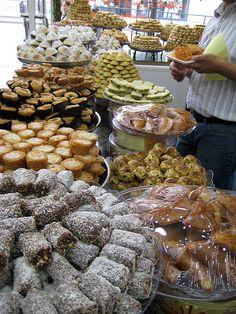 Lebanese sweet shop in London