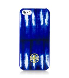 Love this Tory Burch tie dye iPhone case blue