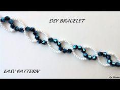 Easy pattern bracelet. DIY beaded bracelet