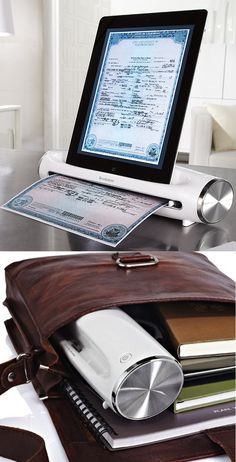 Portable Scanner for iPad allows you to scan important documents, photos, recipes, and more, instantly on the go. - www.MyWonderList.com