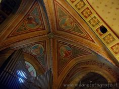 Trezzo d'Adda (Milan): Detail of the ceiling of the Church of the saints Gervaso and Protaso