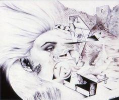 """Tears of Esclarmonde de Perrille"" Pen & Ink"