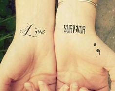 semicolon temporary tattoo set of 3 semicolon tattoo tiny minimalist .