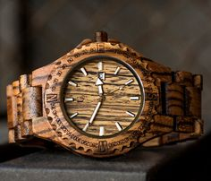 Personalized Gifts For Men Engraved Wood Watch by UrbanDesignerNYC