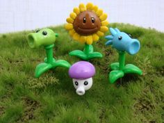 Plants Vs Zombies Inspired Clay Terrarium Accessories (4) - Potted Plant - Video Game