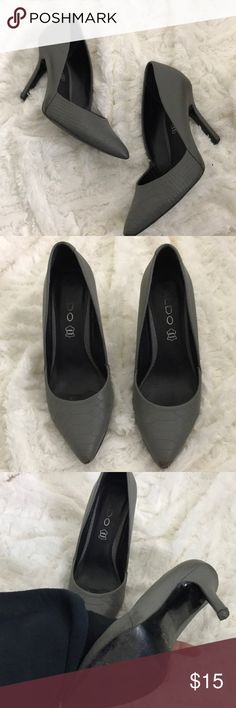 Grey Heels Grey Aldo Heels - great condition. Pointed toe & super comfy. Aldo Shoes Heels