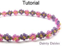 Dainty Daisies Daisy Chain Beaded Bracelet Beading Pattern Tutorial