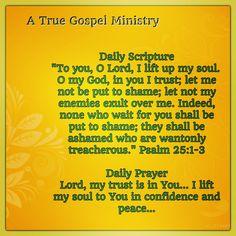 #scripture #prayer #atruegospelministry