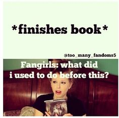 Lol true this is also awesome because she's reading the infernal devices series and I love those books