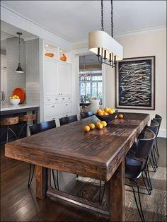 8 idées de salle à manger moderne rustique - Blogue Dessins Drummond  http://blogue.dessinsdrummond.com/2014/06/23/salle-a-manger-style-moderne-industrielle/
