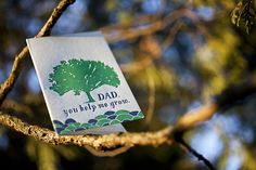 Dad Grow letterpress card from Smock