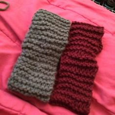 Handknit Headband / Ear Warmer I knit these all myself, they take a day depending on school and work  so it could take up to a week-week and a half to get to you. I'm trying to get money for prom so please help me out! I right now have four different colors but if you have any requests let me know and I'll go get them! You can add a bow for an extra $2, I like to wear mine in the back when I wear buns so it adds a cute little touch. Accessories Hats