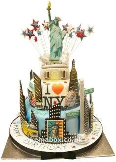 My Latest Wedding Cake New York Themed New York City Big Apple Themed