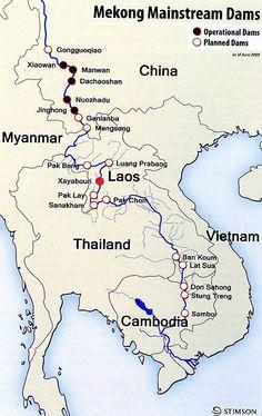 Mainstream Dams Map