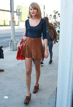 Taylor Swift's Corduroy Skirt: SHOP Her Look For Under $30
