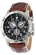 Citizen Men's BL5250-02L Eco-Drive Titanium Watch with Leather Band