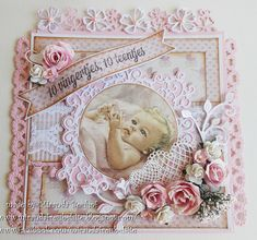 Baby Barn, Homemade Birthday Cards, Shabby Chic Cards, New Baby Cards, Baby Shower Cards, Baby Scrapbook, Pretty Cards, Baby Crafts, Card Tags