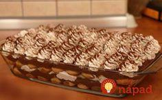 Vynikajúci dezert z detských piškót a čokoládového krému. So šľahačkou a fantastickou chuťou!