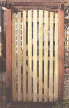 images about gates on Pinterest Wooden garden gate