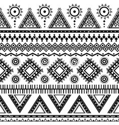 Tribal aztec seamless pattern vector 1357820 - by Vodoleyka on VectorStock®