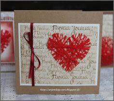 Arjen Iloja: Sydämiä joulukortteihin Xmas Cards, Holiday Cards, Christmas Wishes, Christmas Crafts, Christmas Ideas, Diy And Crafts, Crafts For Kids, Crafty Craft, Love Cards