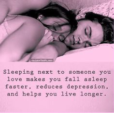 Sleeping Next To Someone You Love Helps You Live Longer