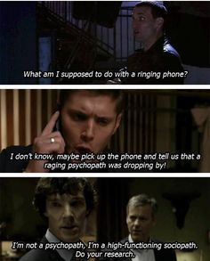 SuperWhoLock and the case of the ringing phone.