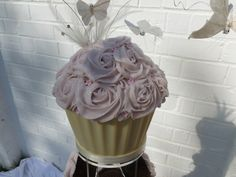 flying butterfly giant cupcake