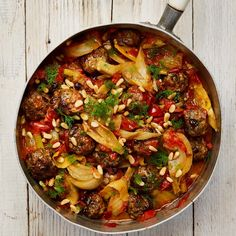 Yotam Ottolenghi's lamb meatballs with braised fennel.Yotam Ottolenghi's lamb meatballs with braised fennel. Yotam Ottolenghi, Ottolenghi Recipes, Lamb Recipes, Meat Recipes, Cooking Recipes, Recipies, Fennel Recipes, Party Recipes, Cooking Time