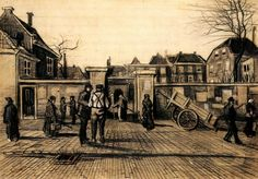 Entrance to the Pawn Bank, The Hague Artist: Vincent van Gogh Completion Date: 1882 Place of Creation: Haag / Den Haag / La Haye / The Hague, Netherlands Style: Realism Genre: cityscape Technique: pencil, ink, watercolor Material: paper