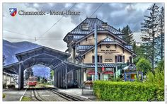 Chamonix-Mont Blanc Switzerland Train to the Mountains