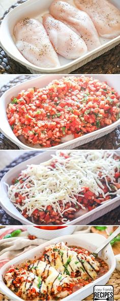 Try this amazing and easy Bruschetta Chicken. This is perfect for a busy weeknight. Try this amazing and easy Bruschetta Chicken. This is perfect for a busy weeknight. I Love Food, Good Food, Yummy Food, Cooking Recipes, Healthy Recipes, Cooking Games, Easy Delicious Dinner Recipes, Diabetic Chicken Recipes, Cooking Ribs