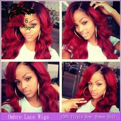 Find More Wigs Information about 16 24 Inch Brazilian Ombre Lace Front Wigs For African American Red Human Hair Wig With Natural Hairline Baby Hair,High Quality hair wig wholesale,China hair wigs india Suppliers, Cheap hair bow display cards from Qingdao Baina Human Hair Store on Aliexpress.com