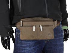 Bear Design DARK-NATURE - Leder Bauchtasche HipBag Hüfttasche - antikbraun