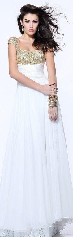 Elegant Straps Chiffon Prom Dress with Sequin