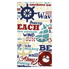 Kitchensmart® Nautical Words Kitchen Towel - BedBathandBeyond.com