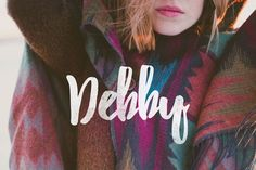 Debby is a hand-drawn brush typeface to make your works looks natural. It designed to feel personal and imperfect; the irregular bouncy