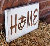 USMC Home Pallet Wood Sign