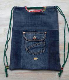 #drawstring#bag#jeans#diy