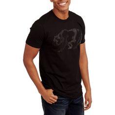 Walking Bear Men's Graphic Tee, Size: Small, Black