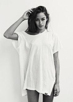 #White #Tee #Cool #Girl