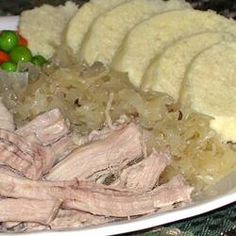 Slow Cooker Lancaster County Pork and Sauerkraut/Very delicious. I use a tbl of caraway seeds because we like them, bagged sauerkraut and I add 2 tsp of brown sugar. Crock Pot Slow Cooker, Slow Cooker Recipes, Crockpot Recipes, Cooking Recipes, Amish Recipes, Pork Recipes, German Recipes, Recipies, Slow Cooking