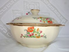 The Meakin Shall Inherit the Earth!  1940s Alfred Meakin Vintage Tureen Vintage Vegetable by FillyGumbo, $55.00
